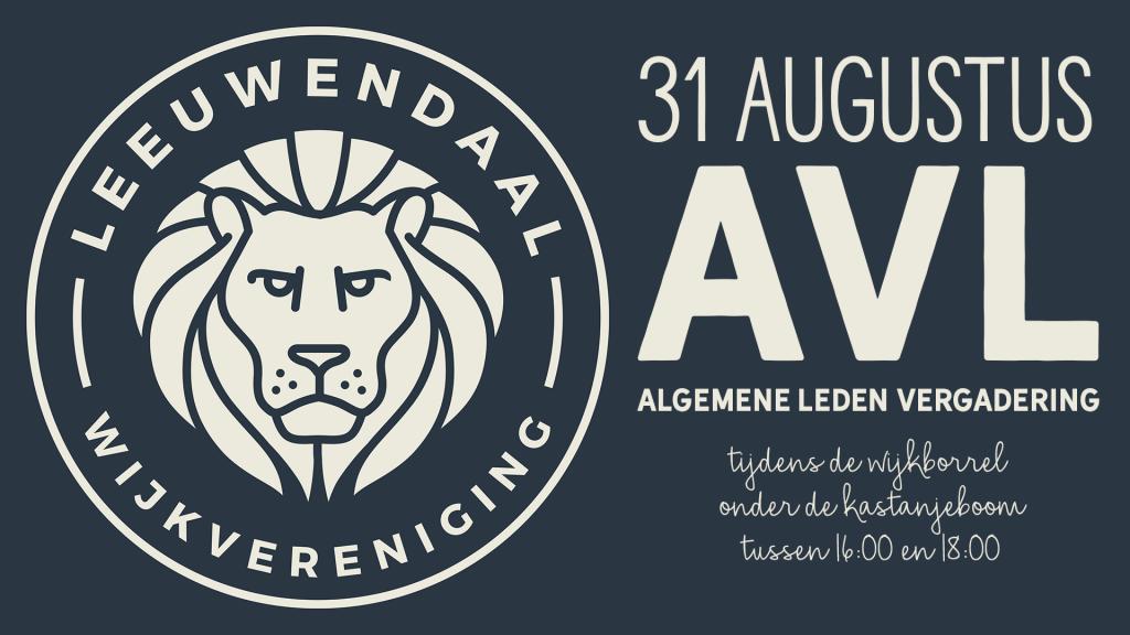 31 augustus algemene leden vergadering